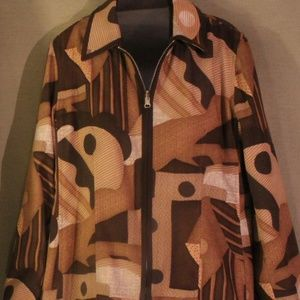 Jackets & Blazers - Harve Barnard Abstract Reversible jacket Sz 4 EUC